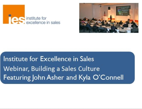 Building a Strong Everyone's in Sales Culture Webinar with ASHER Strategies
