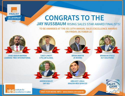IES Announces Finalists for Inaugural Jay Nussbaum Rising Sales Star Award