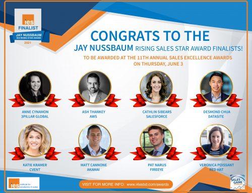 IES Announces 2021 Jay Nussbaum Rising Sales Star Award Finalists