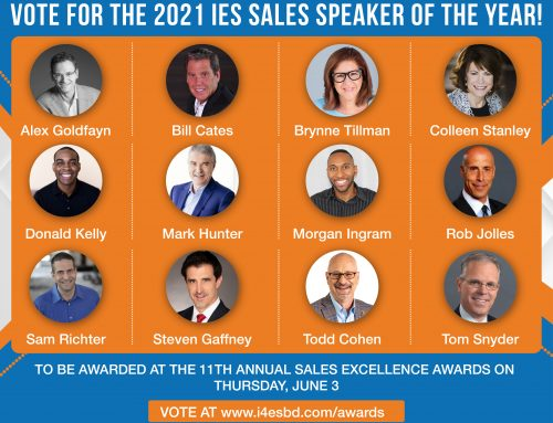 Institute for Excellence in Sales Announces Finalists for 2021 Sales Speaker of the Year Award